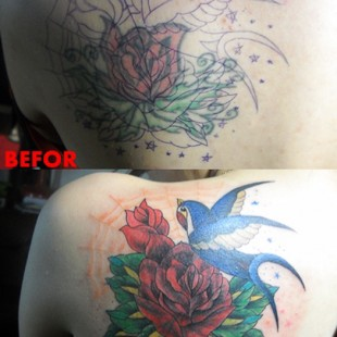 rose tattoo coverup